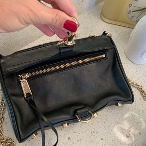 Like NEW clutch or crossbody Minkoff black & gold